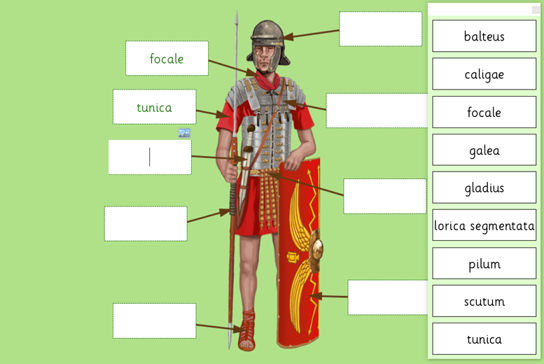 Roman Soldier Labeling Activity from LearningGrids