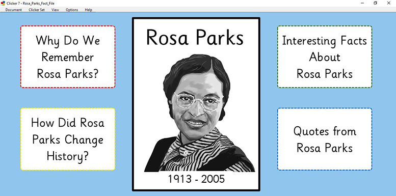 Rosa Parks - Fact File (Clicker)