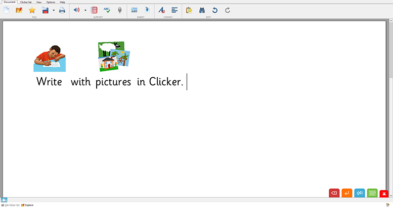 Write with pictures in Clicker