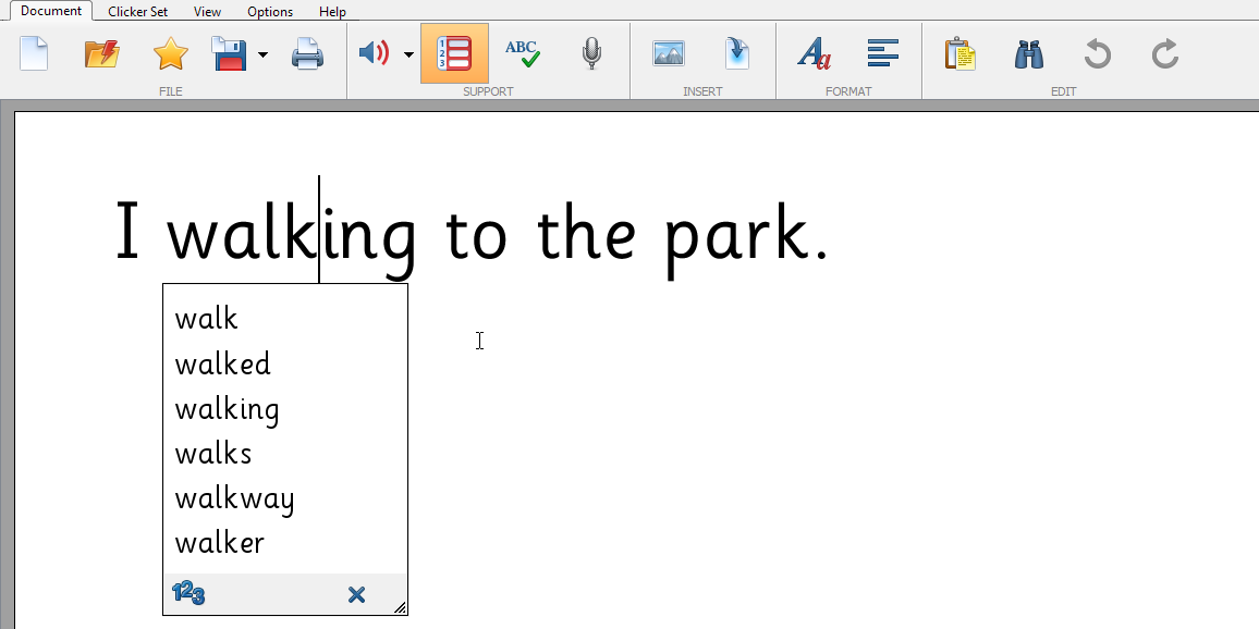 Clicker 7 - Word Prediction | Crick Software